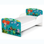 PriceRightHome Mermaid Toddler Bed Plus Deluxe Foam Mattress