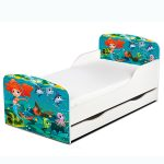 PriceRightHome Mermaid Toddler Bed With Underbed Storage plus Deluxe