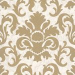 Carat Damask Glitter Wallpaper Gold and White P+S 13343-70