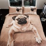 Pug Puppy Single Duvet Cover and Pillowcase Set