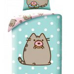 Pusheen Doughnut Single Cotton Duvet Cover Set
