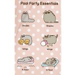 Pusheen Party Beach Towel
