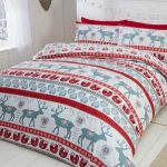 Scandi Christmas Brushed Cotton King Size Duvet Cover Set