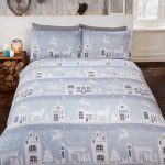 Reindeer Road Brushed Cotton Christmas King Size Duvet Cover Set –