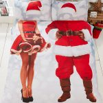 Selfie Santa Christmas King Size Duvet Cover and Pillowcase Set