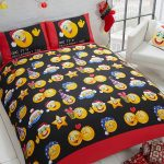 Emoji Icons Christmas Single Duvet Cover and Pillowcase Set
