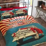 Retro Garage Double Duvet Cover and Pillowcase Set