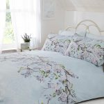 Eloise Floral Double Duvet Cover Set – Duck Egg