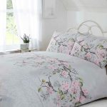 Eloise Floral Double Duvet Cover Set – Grey