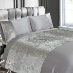 Crushed Velvet Silver King Size Duvet Cover Set