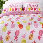 Tropical Pineapples Double Duvet Cover and Pillowcase Set