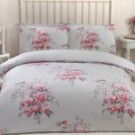 Maisie Floral Double Duvet Cover Set – Grey
