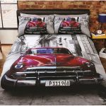 Santiago Classic Car Double Duvet Cover and Pillowcase Set