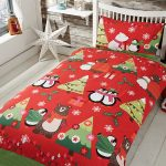 Together at Christmas Red Single Duvet Cover Set