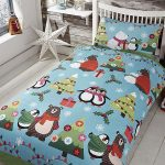 Together at Christmas Blue 4 in 1 Junior Bedding Bundle (Duvet, Pillow
