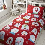 Christmas Snow Globes Double Duvet Cover Set
