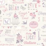 Inspirations Wallpaper White and Pink Rasch 216707