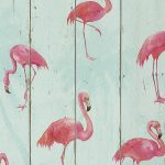 Barbara Becker Flamingo Wallpaper Teal Rasch 479706