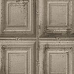 Distressed Wood Panels Wallpaper Grey Rasch 932607