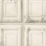 Distressed Wood Panels Wallpaper White Rasch 932614
