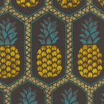 Pineapple Wallpaper by Barbara Becker – Black and Yellow Rasch 862140