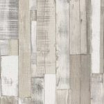 Wood Board Panel Wallpaper White Rasch 203714
