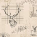 Richmond Highland Stag Wallpaper Charcoal Holden 98012