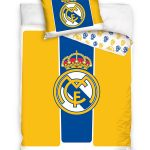 Real Madrid CF Yellow and Blue Single Cotton Duvet Cover Set