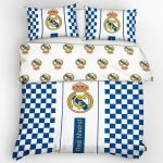Real Madrid CF Checked Double Cotton Duvet Cover Set