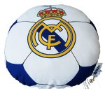 Real Madrid CF Football Shaped Filled Cushion