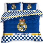 Real Madrid CF Blue Double Cotton Duvet Cover Set