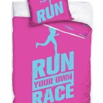 Runners Single Cotton Duvet Cover Set – Pink and Blue