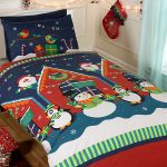 Santa's Grotto Single Christmas Duvet Cover and Pillowcase Set