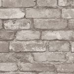 Silver Grey Brick Effect Wallpaper Fine Decor FD31286