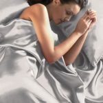 Silver Satin Double Duvet Cover, Fitted Sheet and 4 Pillowcases