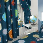 Solar System Planets & Space Lined Curtains