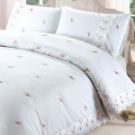 Sophie Floral White Super King Duvet Cover and Pillowcase Set