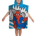 Spiderman Abstract Hooded Poncho Towel