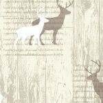 Stag Cream Cabin Wood Wallpaper Arthouse 623001