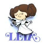 Star Wars Mini 3D LED Wall Light Leia
