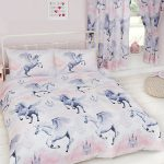 Stardust Unicorn Double Duvet Cover and Pillowcase Set – Lilac and