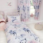 Stardust Unicorn Single Duvet Cover and Pillowcase Set – Lilac and