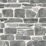 Stone Wall Wallpaper Grey Rasch 265620