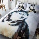Husky Dog King Size Duvet Cover and Pillowcase Set
