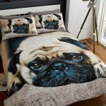 Sweet Pug Double Duvet Cover and Pillowcase Set