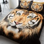 Tiger Face Single Duvet Cover and Pillowcase Set