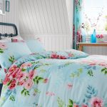 Alice Floral Double Duvet Cover and Pillowcase Set – Turquoise and