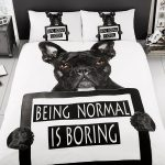 French Bulldog Single Duvet Cover and Pillowcase Set