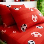 Goal Football Single Fitted Sheet and Pillowcase Set – Red