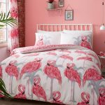 Flamingos and Palm Trees Double Duvet Cover Set